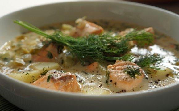 Финский суп из лосося со