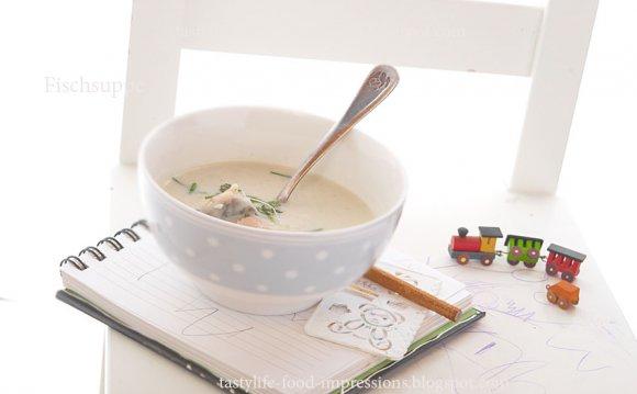 Суп- пюре из красной рыбы и