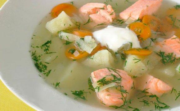 Уха из лосося - рецепт