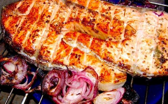 Рыба на гриле на мангале рецепт